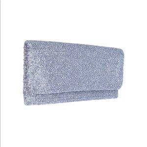 Moyna clutch in matte silver
